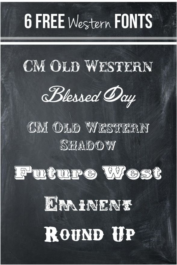 western fonts
