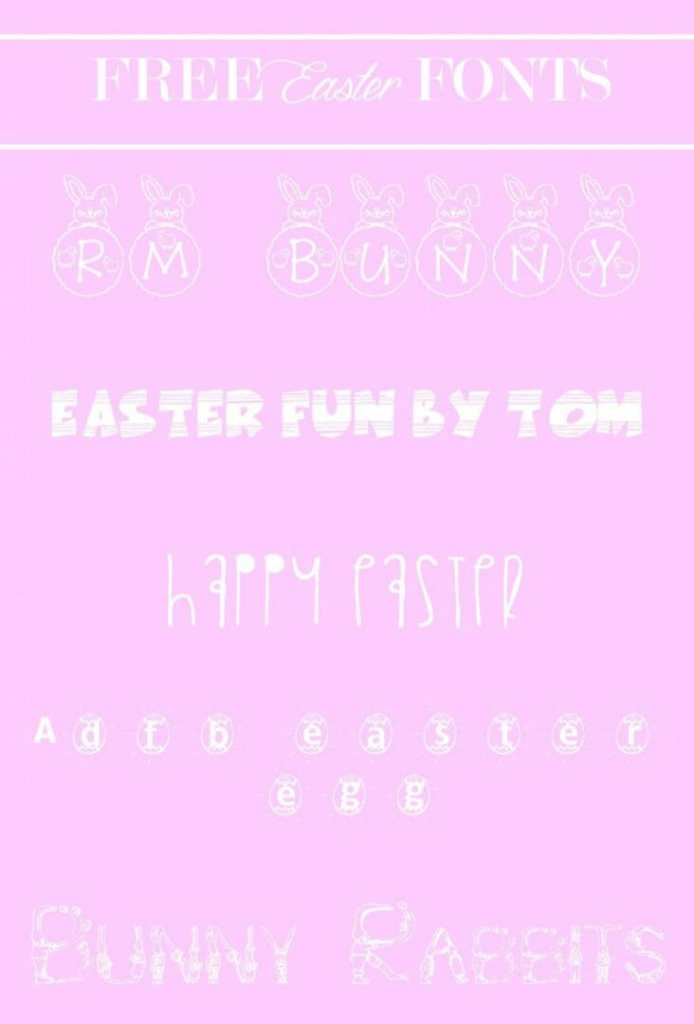 Adorable free Easter fonts.