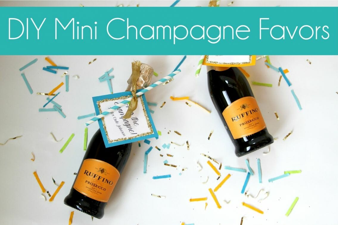 diy mini champagne favors the storibook