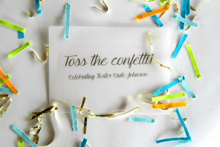 diy confetti favors with glitter