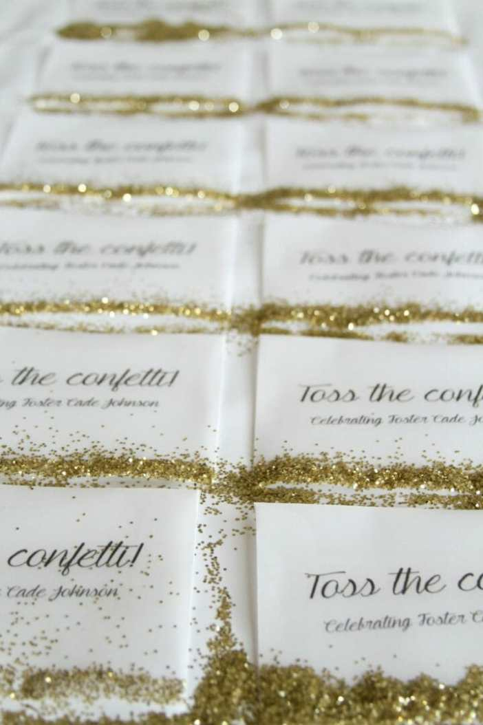 how to make confetti favors