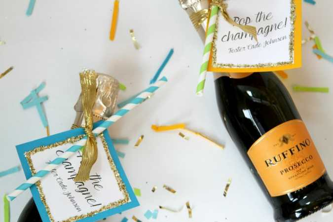 mini champagne favor how to
