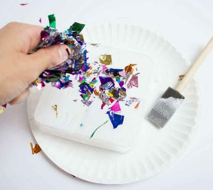 DIY Confetti Makeup Trays 4