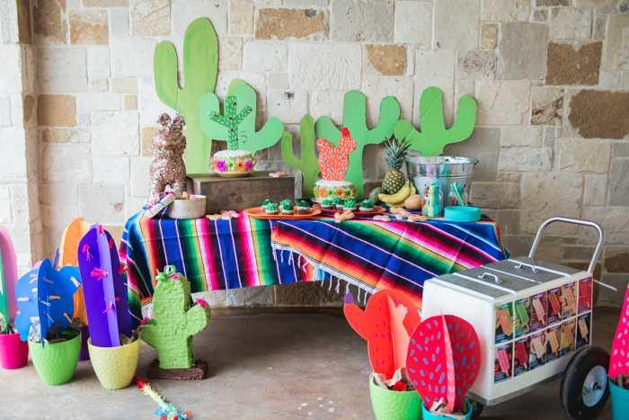 fiesta themed birthday party
