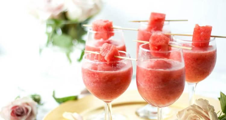 Strawberry watermelon frose