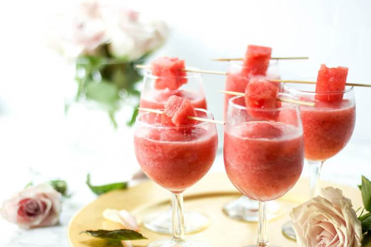 Strawberry watermelon frose