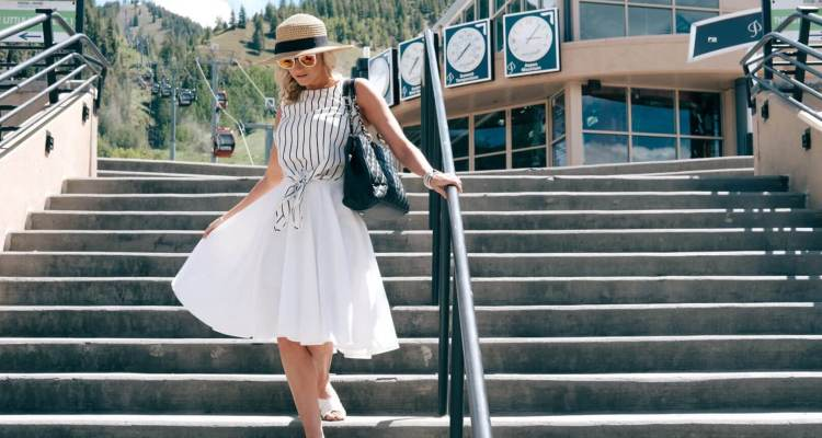 Summer Chic in Whites and Stripes