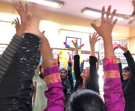 young women in a vocational training group learning about Self-Care