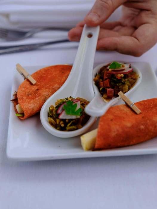 brunoise de legumes et taco de boeuf