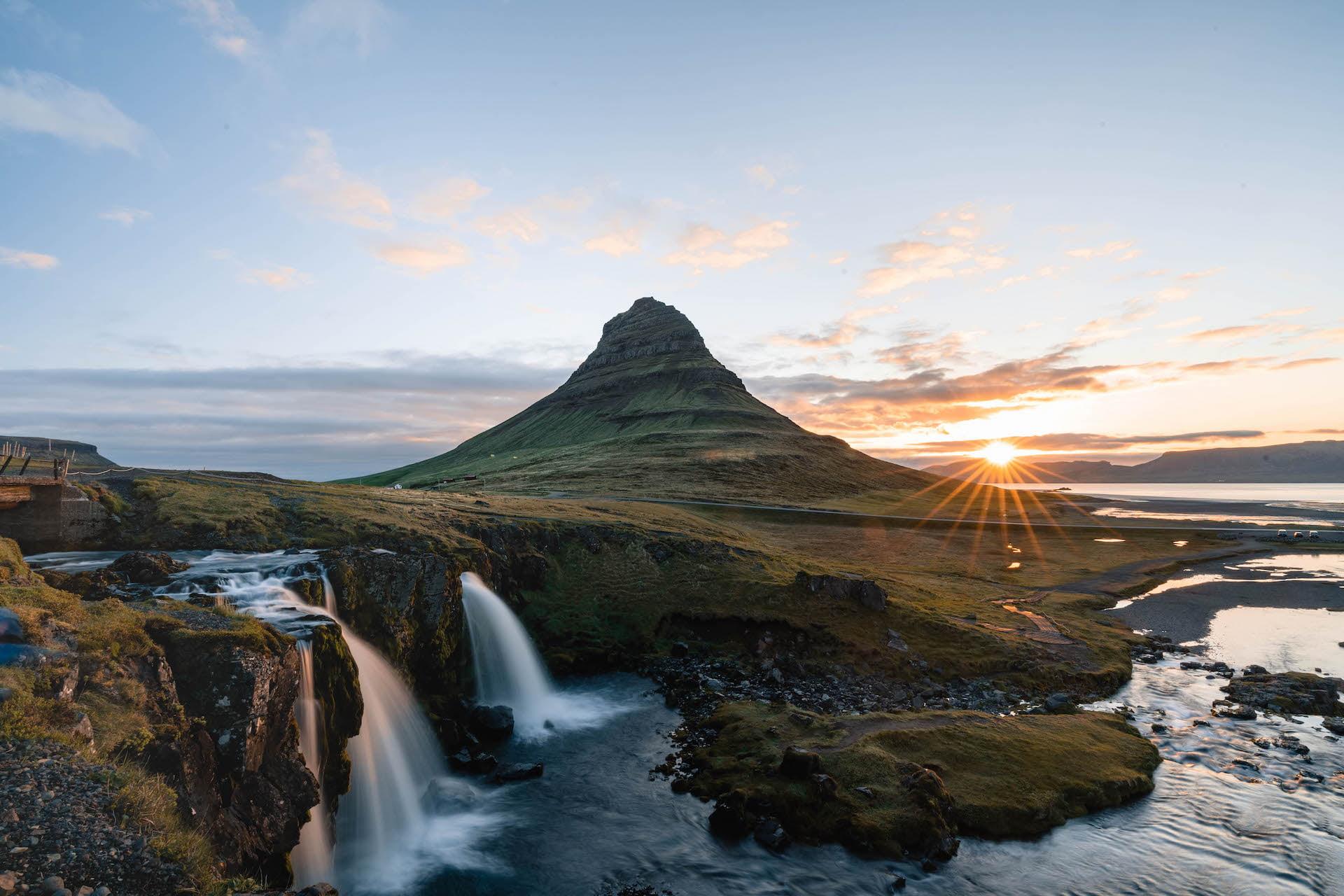 Kirkjufell Été Islande