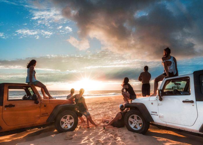 Sunset in Kauai Jeep Hawaii