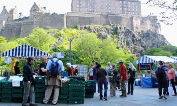 Castle Terrace at Edinburgh Farmers' Market