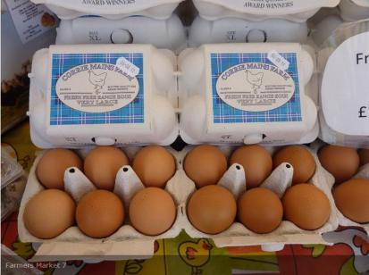 Fabulous hen and duck eggs from our Glasgow market supplier