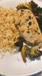 Skinnytaste Parmesan Crusted Chicken with Broccoli