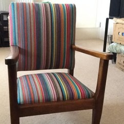 Fabrics For Chairs Striped Disney Princess Upholstered Chair Australia The Stripes Company Stripe Deckchair Multi Cotton To Recover Dining