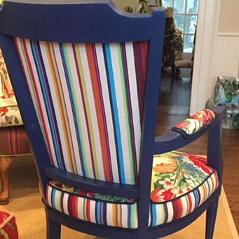 fabrics for chairs striped inflatable pool chair with drinks holder the stripes company stripe deckchair reupholstering