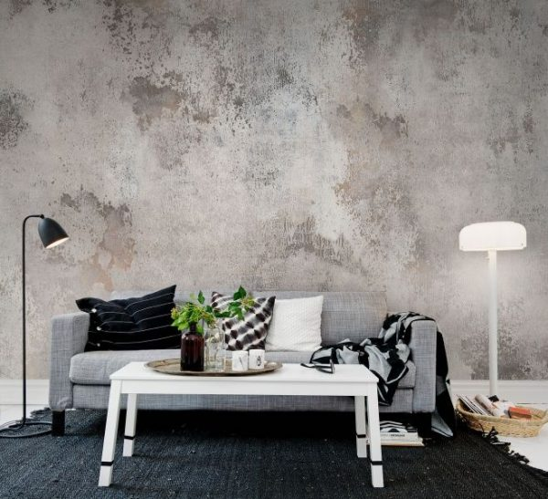 Loftgevoel betonlook behang  THESTYLEBOX