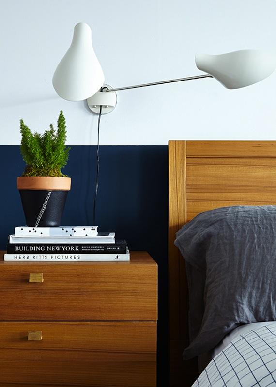 Slaapkamer Muur Donkerblauw