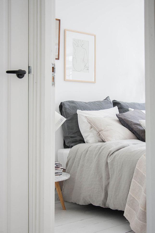 Linnen dekbed slaapkamer  THESTYLEBOX