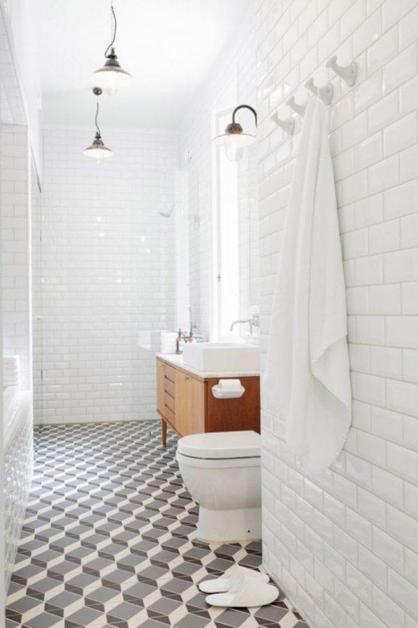 Tegels met patroon in de badkamer  THESTYLEBOX