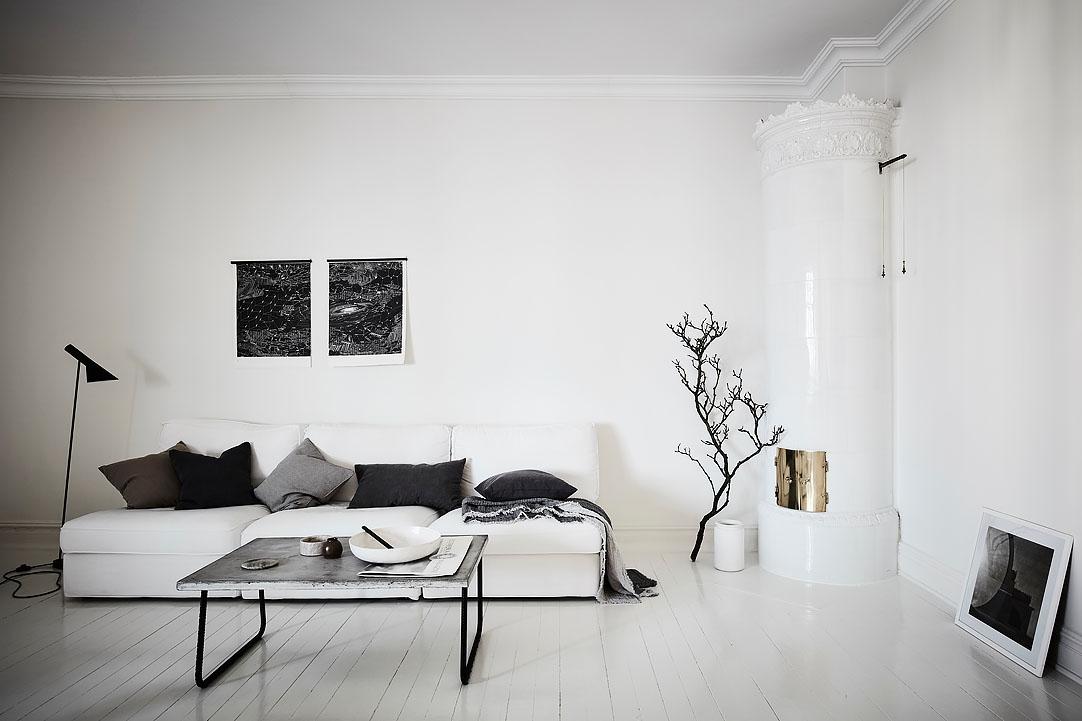 Zwart wit appartement  THESTYLEBOX