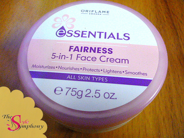 Oriflame Essentials Fairness 5-in-1 Face Cream Review