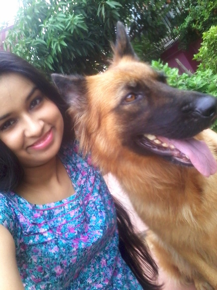 together with pet dog