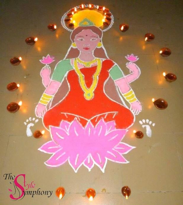 Lakshmi Rangoli