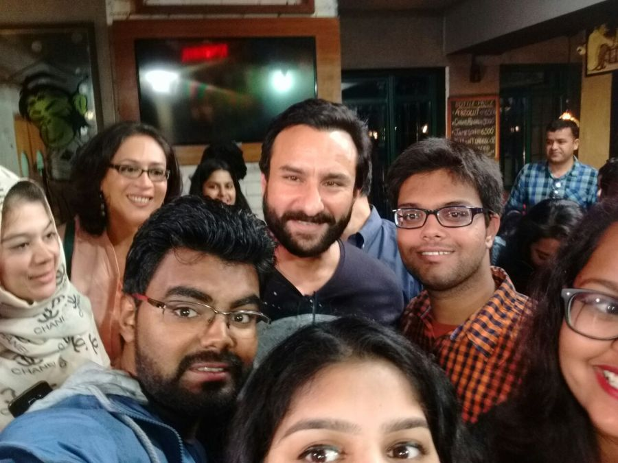Devesh Purohit with Saif Ali Khan in Mumbai