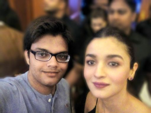 Devesh Purohit with Alia Bhatt