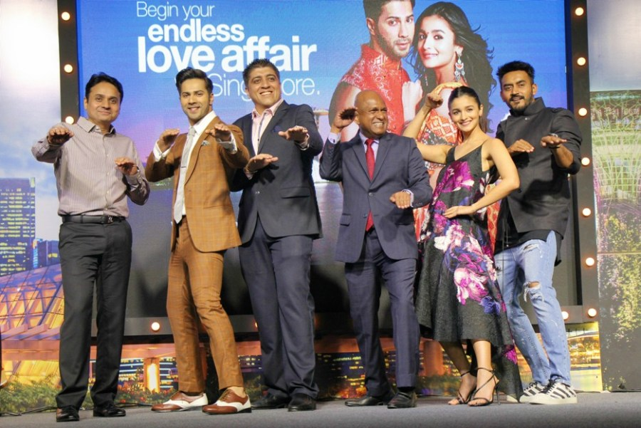 STB, SilkAir & Badrinath ki Dulhania teams on stage