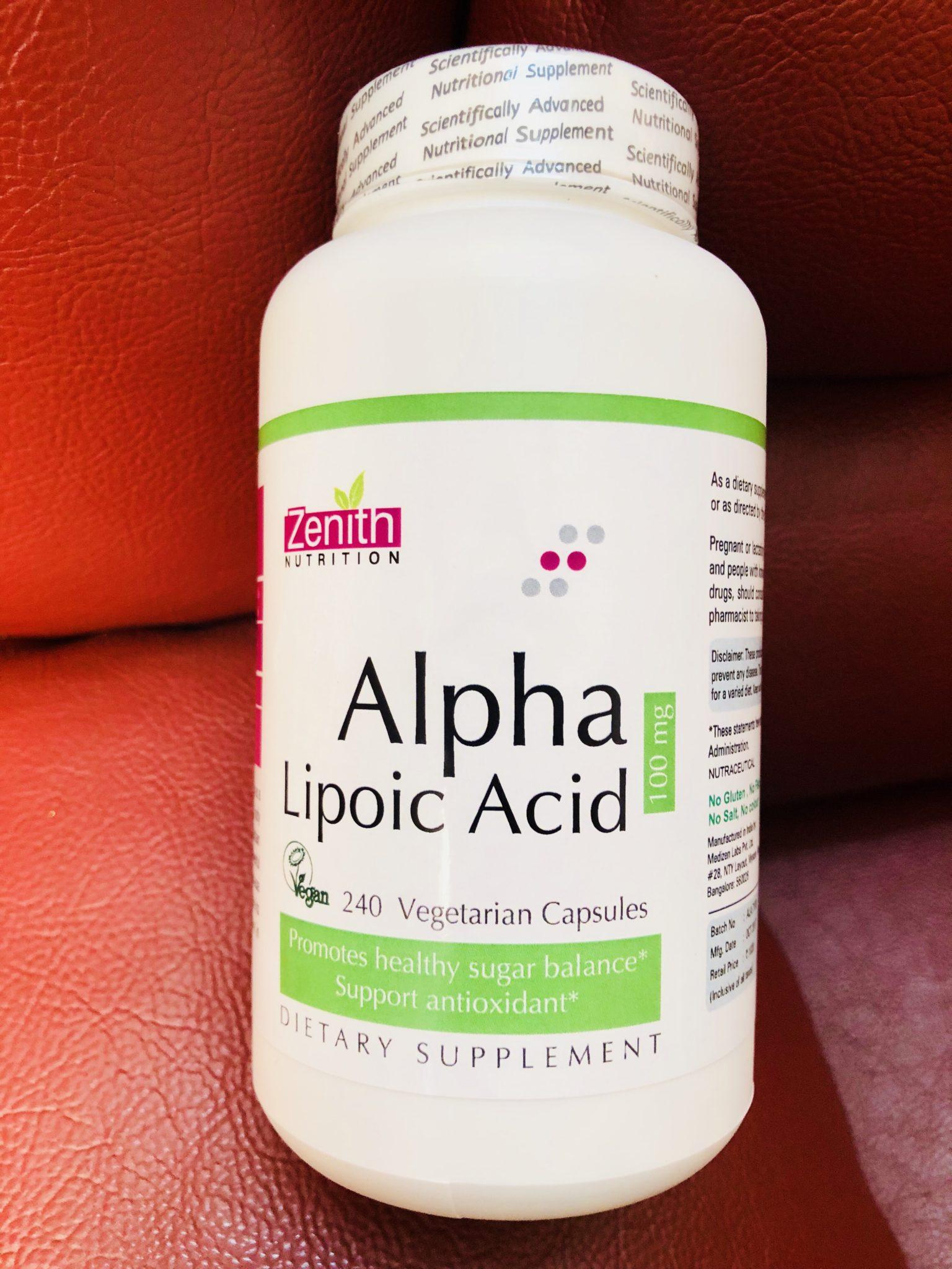 Zenith Nutrition Alpha Lipoic Acid Vegetarian Capsules
