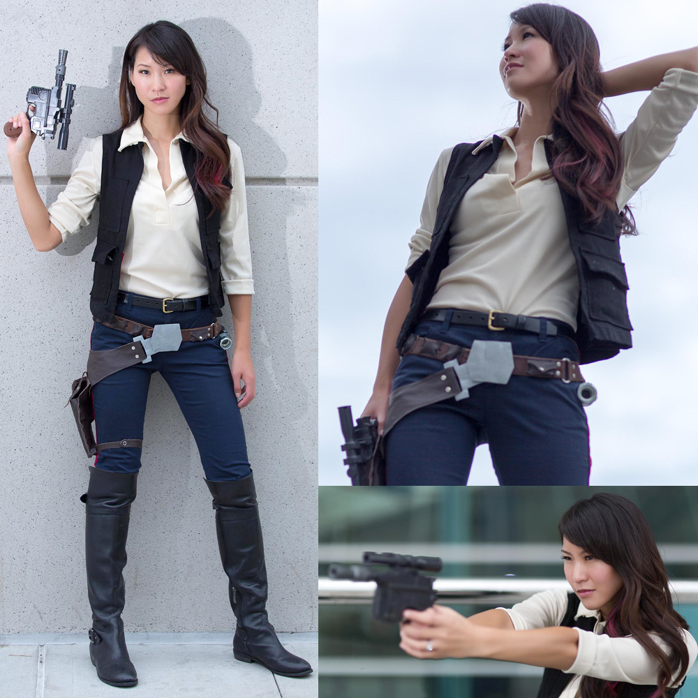 female han solo cosplay