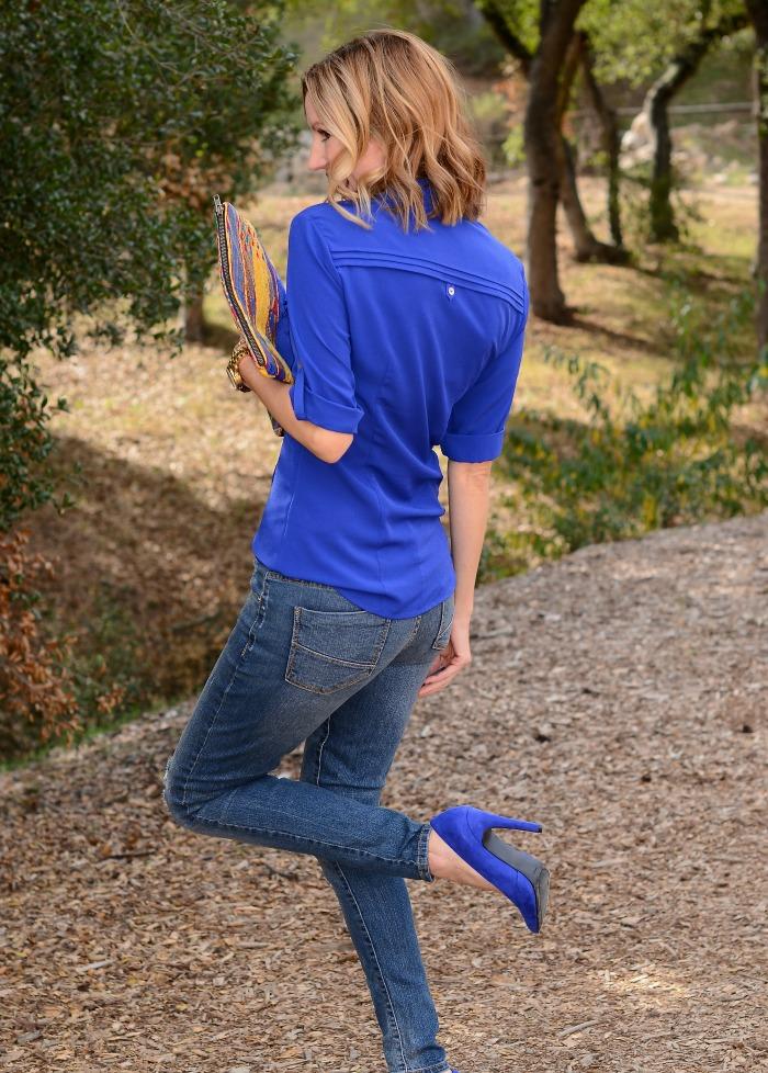 Cobalt Blue JustFab Heels