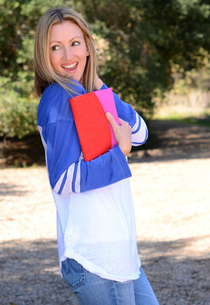 Pink & Red Colorblock Clutch