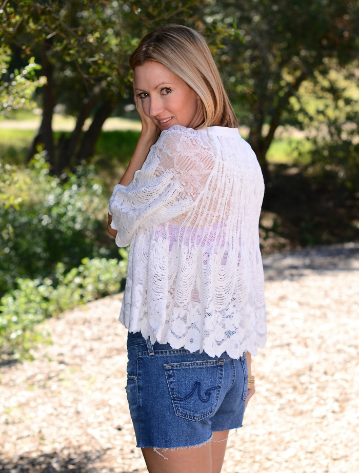 Anthropologie Lace Peasant Top