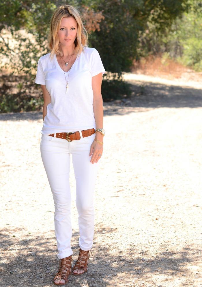 Yolanda Foster White Jeans