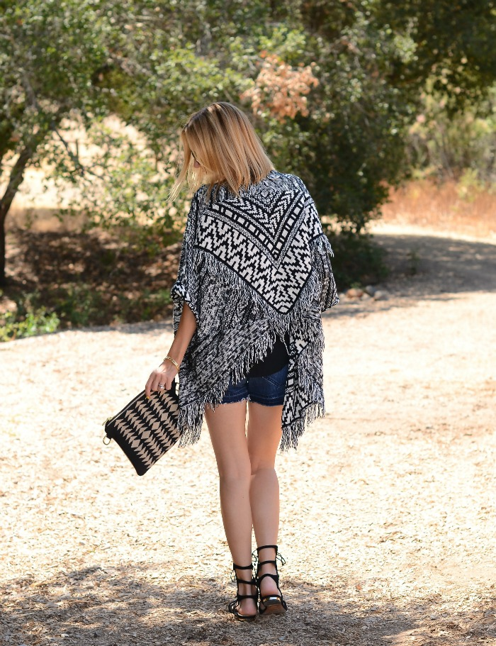 anthropologie fringed cardigan