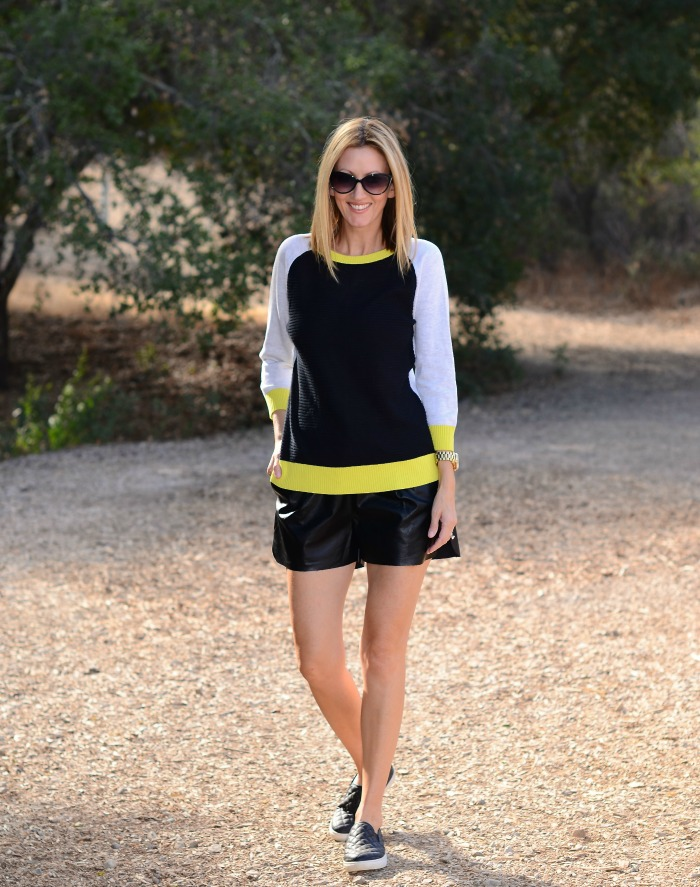 Chartreuse Colorblock Sweater