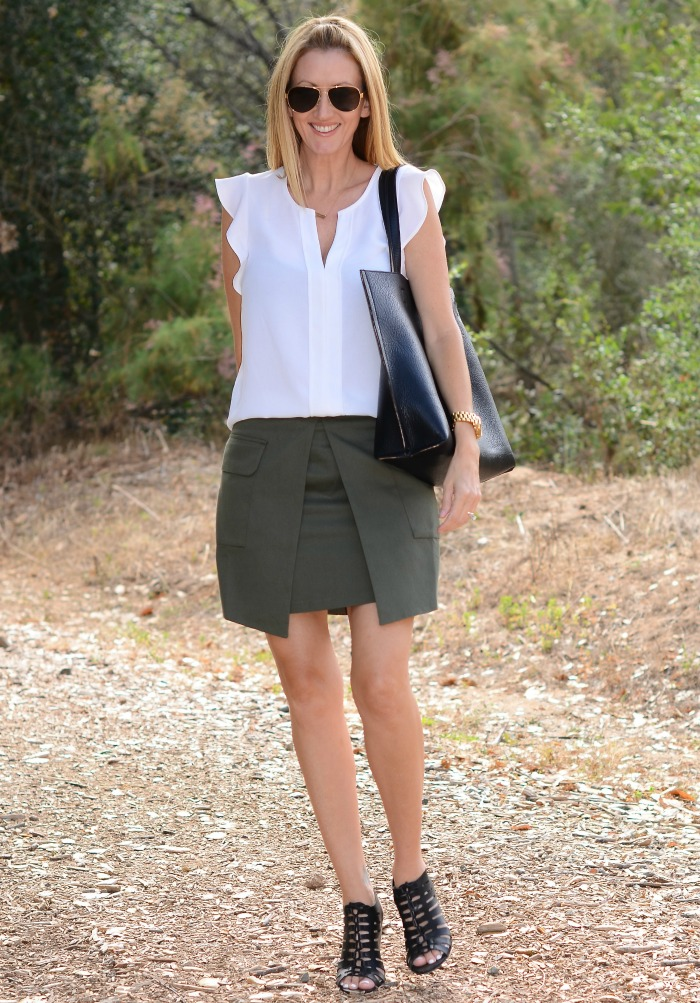 Justfab Clothing Line Cargo Skirt