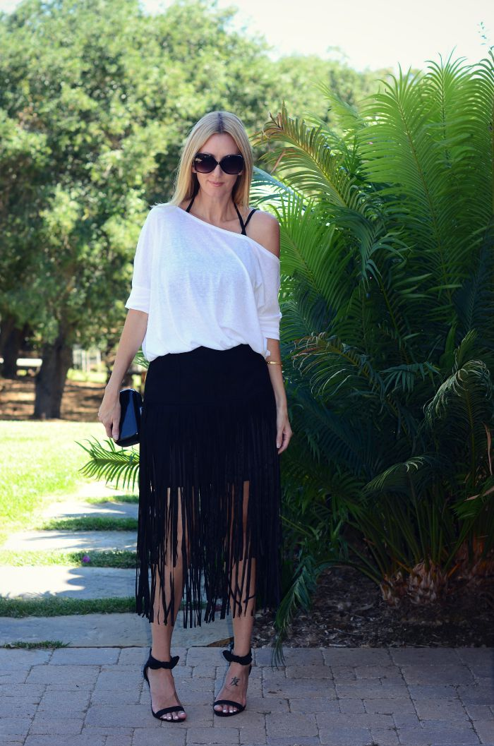 Justfab Fringe Skirt