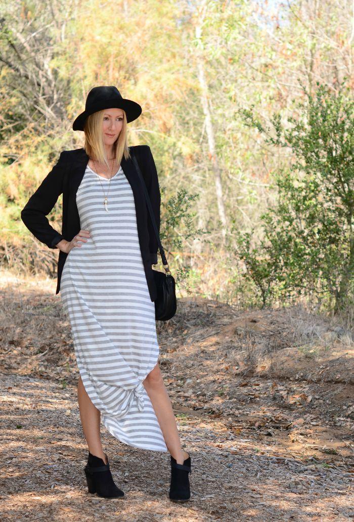 Gray Monroe Grey Striped Dress