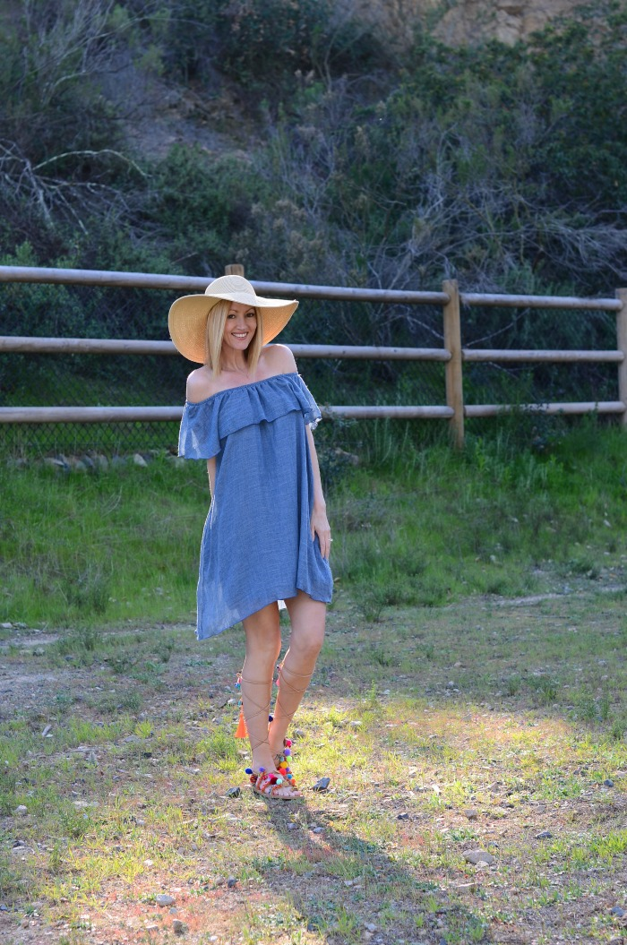 Gray Monroe Off the Shoulder Dress