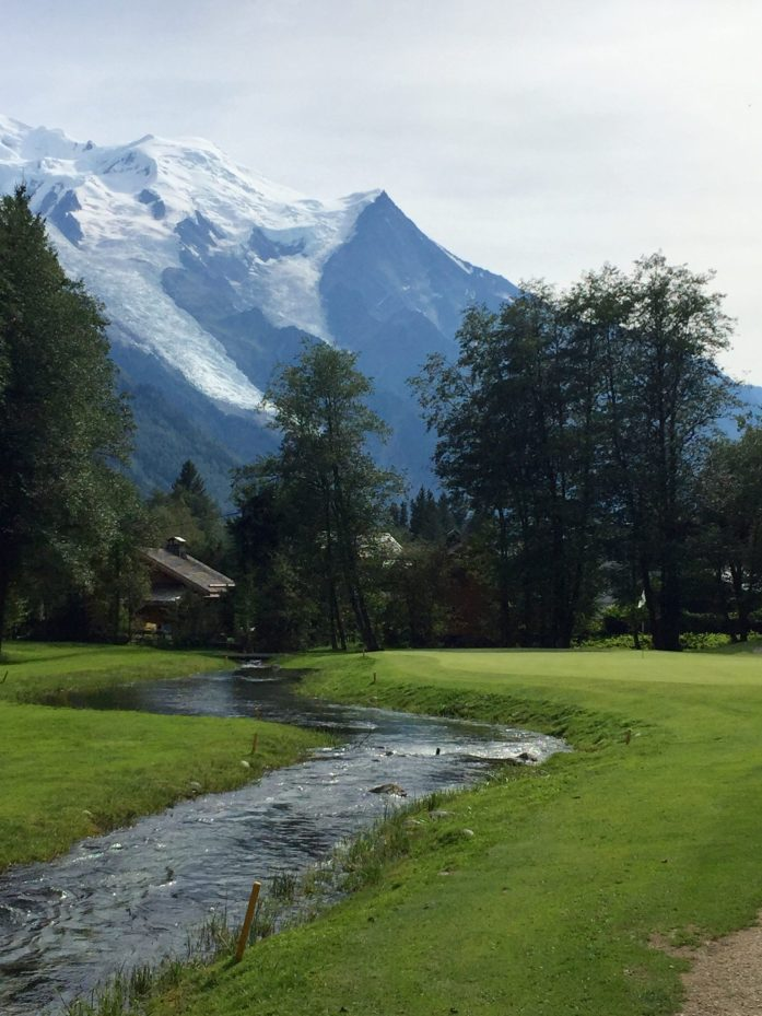 Water on the Chamonix Golf Course