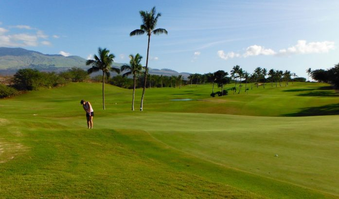 9th Hole at Maui Nui Golf Course