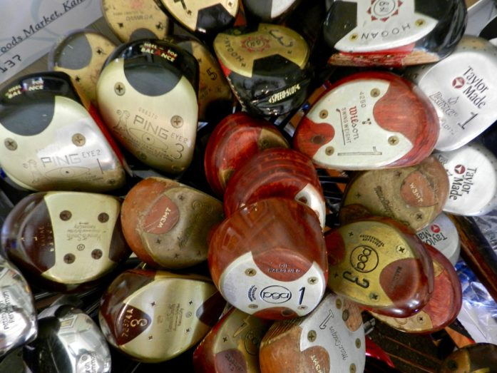 Collection of Old Golf Drivers