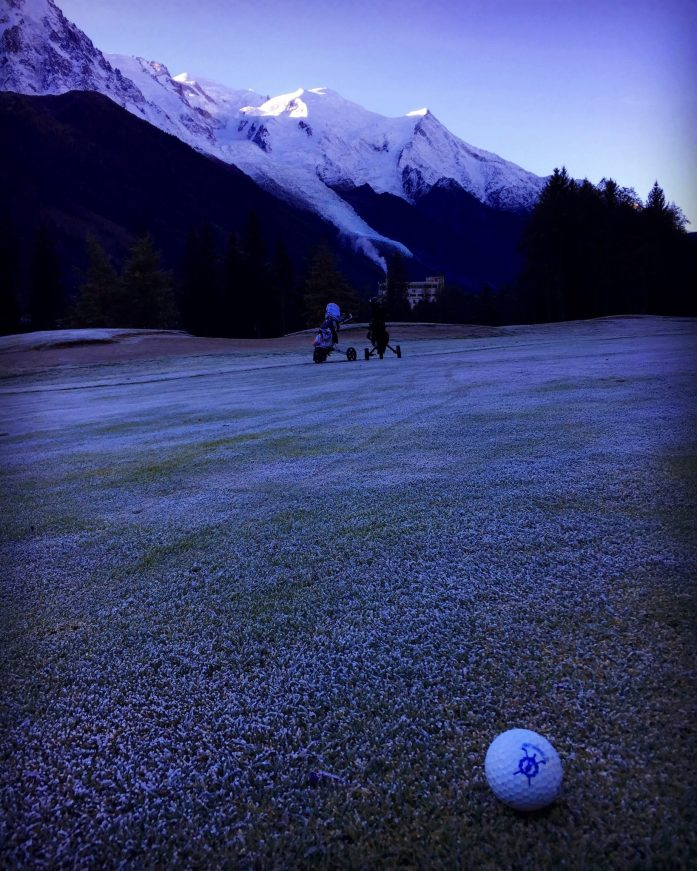 Frosty Start for Golf at Chamonix Golf Course