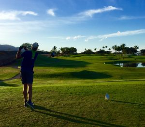 Phil Off the First Hole at Maui Nui