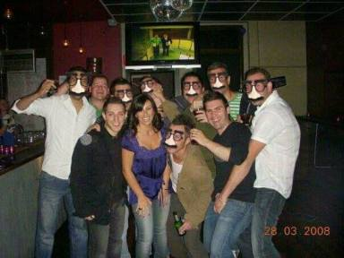 10 year reunion. I may not have dated any of them but I guess that's why we are all still great friends. (I didn't ask permission so I disguised them)