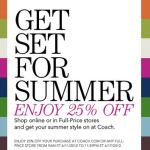 Coach Coupon 25% Off Full-Price Store